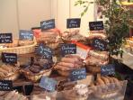 A stall at the Saturday market in Brive