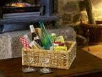 Welcome hamper with fine wine & local produce