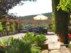 Large front terrace is perfect for entertaining with lovely gardens and view of a nature reserve