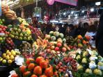 Mercat de la Boquería en las Ramblas de Barcelona