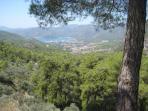 View from the hills overlooking Gocek