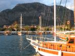 View of Gocek from harbour