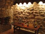 The castle wine cellar is stocked with a well-edited selection of vibrant local wines