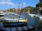 Beautiful Catalan boats in the harbour