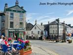 historic market town of Ulverston with its cobbled streets and historic shops