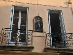 Two of the balconies