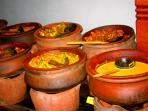 Sri Lankan Food served in Clay Pots