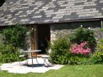 The most wonderful south facing garden with sandstone flags perfect for a coffee, cool wine or beer