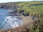 Cornish coastline at Hemmick