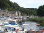 The Port at Dinan on the River Rance