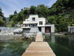 Lakefront Villa with Private Mooring
