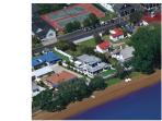 The gorgeous waterfront home is close to the tennis courts which can be hired