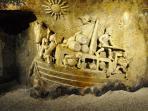 sculpture dans les caves de Bailly