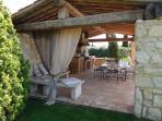 Outside summer kitchen terrace