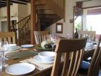 the dining room opens onto the terrace