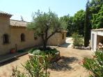 Villa interior courtyard