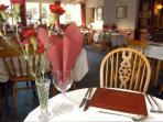 The Falcon Inn restaurant area