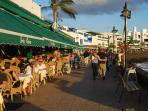 The water front restaurants of Playa Blanca
