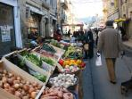 Shop like a local on Market day in nearby St. Cyprien