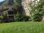 Barbecue in the private garden