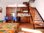 cucina-soggiorno dell'appartamento 'ulivo'