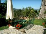 Plenty of space to relax over a meal or sun bathe in the never-ending sunshine of Umbria.