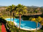 One of three beautiful swimming pools