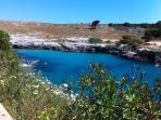 A short drive from Otranto the wonderful bay of Porto Badisco