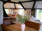 Longbow Barns upper apartment sitting room diner with countryside, estuary and sea views.