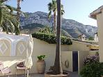 Views of Montgo from the garden.