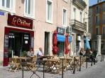 Enjoy a morning coffee in Narbonne