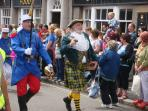 Golowan festival, Penzance in June.