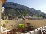 Views of Montgo from the roof terrace