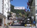 Champery village in summer