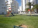 Children's playground on promenade