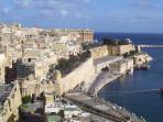 Early Morning Sunshine Over Valletta