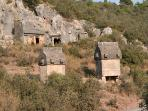 Lycian Tombs In The Valley