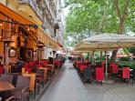 The cozy Liszt Ferenc square to drink a fine glass of Hungarian wine