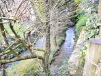 Stream beyond the garden fence