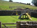 Another view -  our walled & gated garden area with seating, for adults to relax and children to pla