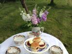 Have an English Cream Tea in the garden