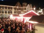 In winter, why not have a drink at the Christmas market...