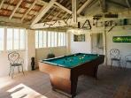 Games room, relax and have a game of billiards after dinner