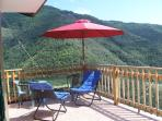 Double room terrace with mountain views