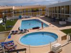 The communal swimming pools