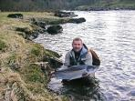A beautiful large fly caught salmon