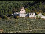 View from the garden. The Poreta Castle ruins