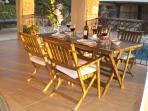 Spacious veranda with panoramic views