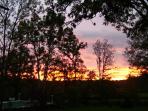 Sunset from Garden