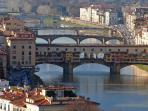 take a short train ride and enjoy Florence - Ponte Vecchio